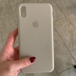 Apple xs Max tan silicone phone case